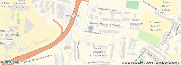 calhariz de benfica mapa Casa Pasto do Calhariz de Benfica calhariz de benfica mapa