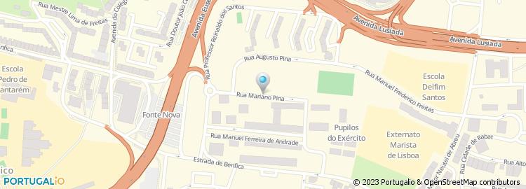 calhariz de benfica mapa Centro Social e Paroquial do Calhariz de Benfica calhariz de benfica mapa