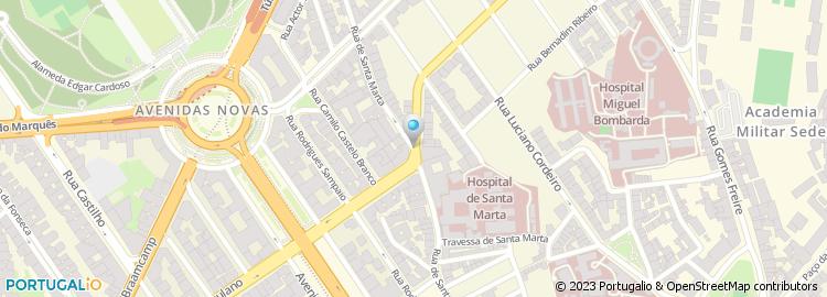 hospital santa marta lisboa mapa Hospital de Santa Marta hospital santa marta lisboa mapa