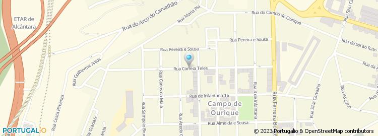 rua correia teles lisboa mapa Rua Correia Teles   Lisboa rua correia teles lisboa mapa