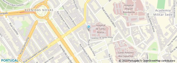 rua santa marta lisboa mapa Rua de Santa Marta   Lisboa rua santa marta lisboa mapa