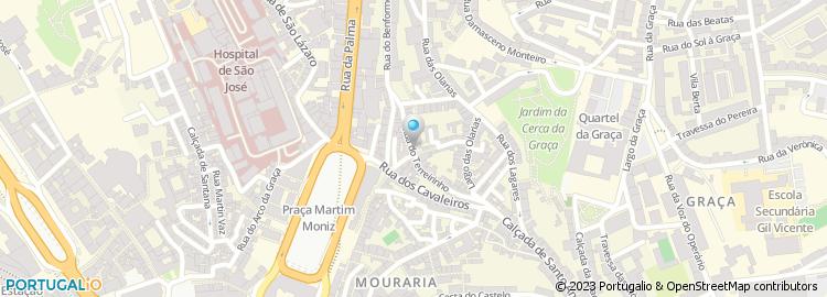 calçada de santana lisboa mapa Rua do Terreirinho   Lisboa calçada de santana lisboa mapa