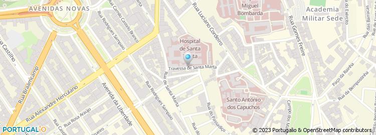 hospital santa marta lisboa mapa Travessa de Santa Marta   Lisboa hospital santa marta lisboa mapa