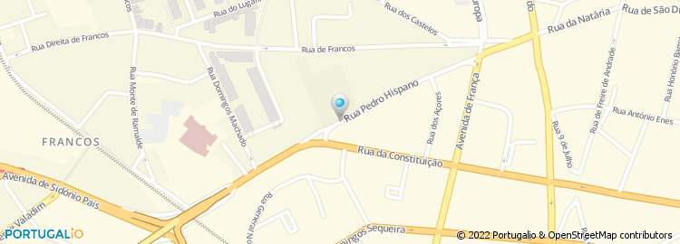 rua pedro hispano porto mapa Rua de Pedro Hispano   Porto rua pedro hispano porto mapa